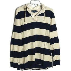 Polo Ralph Lauren Striped Rugby Hoodie - M